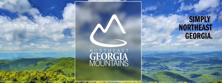 Northeast Georgia Mountain Travel Association logo and background